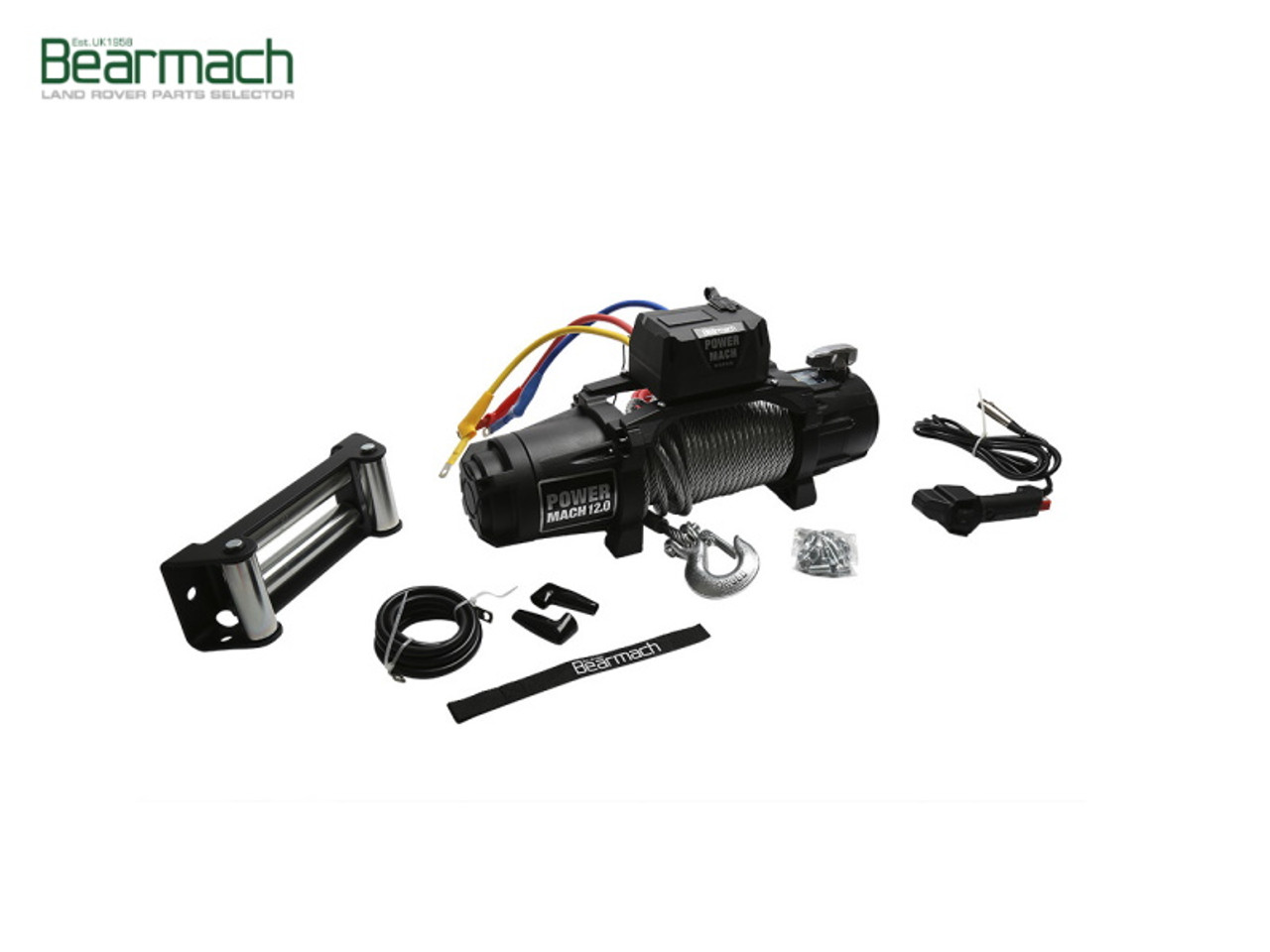 Bearmach Power Mach 12,000lb 12v Two Speed Winch With Synthetic Rope - BA 6002A