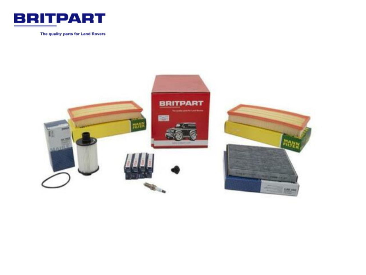 Britpart OEM Range Rover L405 And L494 5.0 V8 Service Kit - DA6099P