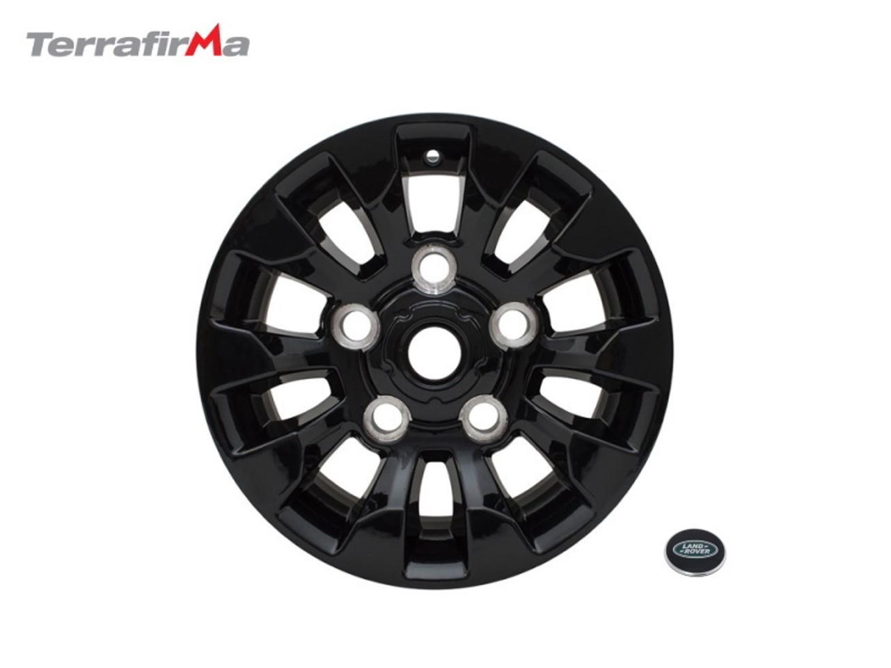 Terrafirma Defender 18x8 Gloss Black Iconic Alloy Wheel - DA6548