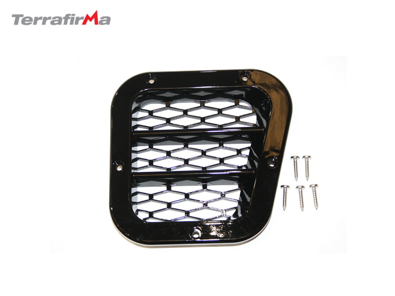 Terrafirma Sport RH Gloss Black Wing Grill For Defender 90/110/130 - TF271RHGF
