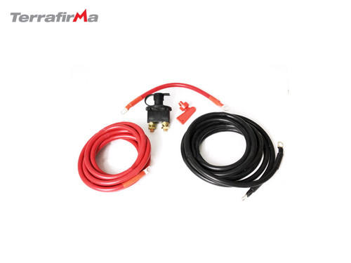 TERRAFIRMA EXTENDED WINCH CABLES 4M AND ISOLATOR SWITCH