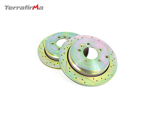 TERRAFIRMA REAR DRILLED AND GROOVED BRAKE DISCS D3/RRS/D4