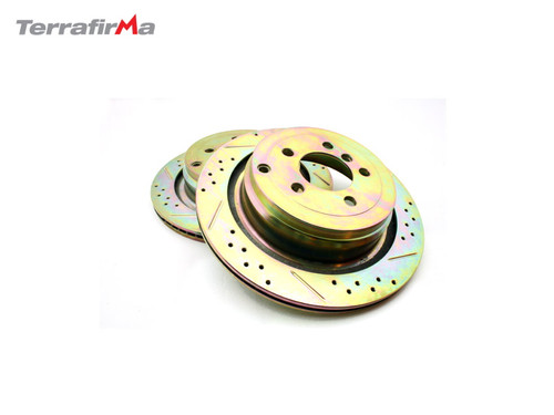 TERRAFIRMA REAR DRILLED AND GROOVED BRAKE DISCS RANGE ROVER L322 FROM 2006