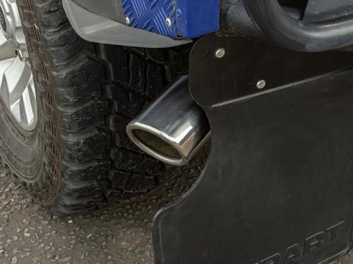 Terrafirma Big Bore 3inch Straight Through Tailpipe for DEF 90 TD5/TDCI - GA568