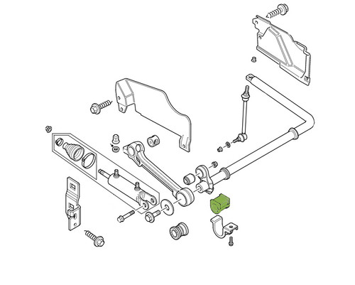 POLYBUSH FRONT OR REAR ARB BUSHS WITH ACE (RBX101181)