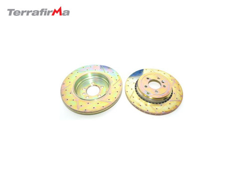 TERRAFIRMA REAR DRILLED AND GROOVED BRAKE DISCS RRS 5.0 SC