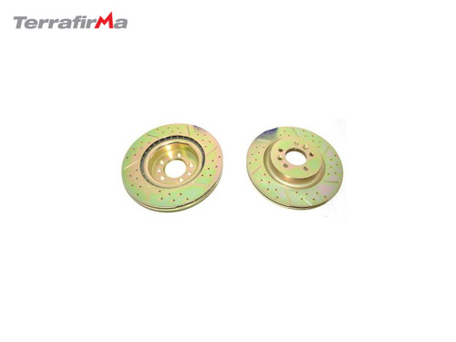 TERRAFIRMA FRONT DRILLED AND GROOVED DISCS FOR L405,L494 AND D5