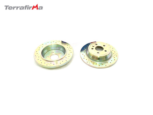 Terrafirma Rear Drilled and Grooved Discs for Freelander 2 2013 Onwards