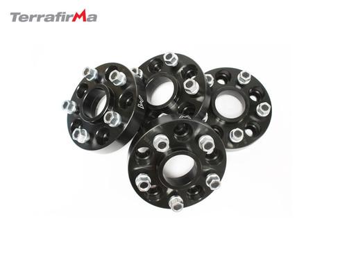 Terrafirma 30mm Black Alloy Wheel Spacers D2/P38