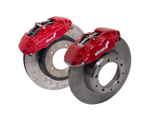 Alcon Defender Big Brake Upgrade Kit With Red Calipers