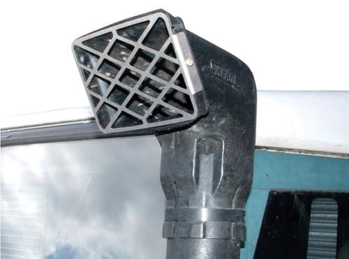 Safari Raised Air Snorkel Stainless Steel Grille