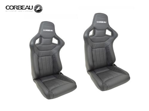 Corbeau Sportline RRS Low Base Seats Finished In Dakota Leather - DA7311