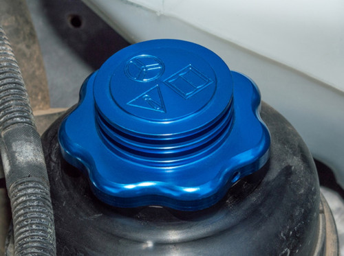 XS Enhancement Blue Power Steering Reservoir Cap With Cooling Fins - DA8894