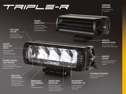 Lazer Triple R-28 LED Light Bar - DA2843