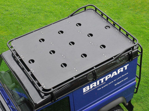 Safety Devices Gutter Mounted Short Luggage Railed Roof Rack For Defender 90/110 - DA4702