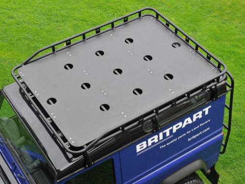 Safety Devices Gutter Mounted Long Luggage Railed Roof Rack For Defender 90/110 - DA4703