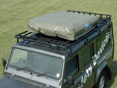 Safety Devices Gutter Mounted Short Luggage Railed Roof Rack For Defender 110 - DA4705