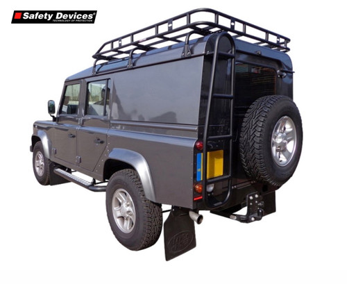 Safety Devices Gutter Mounted Long Luggage Railed Roof Rack For Defender 110 - DA4706