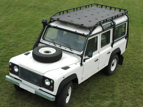 Safety Devices Roll Cage Mounted Long Luggage Railed Roof Rack For Defender 110 - DA4715