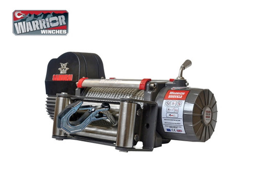 Warrior 9,500lb V2 HiSpeed Samurai 12v Electrical Winch With Steel Cable - 9HSVS12