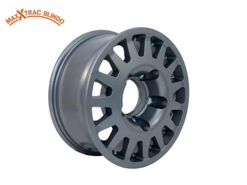 "MaxXtrac Blindo 16"" x 7 Anthracite PCD - 5 x 165.1 Alloy Wheel - DA2488"