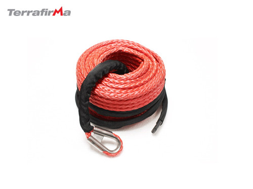 Terrafirma Red Synthetic Winch Rope With Rock Guard 25m x 11mm - TF3324