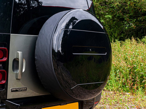 New Defender Gloss Black Spare Wheel Cover - DA2893