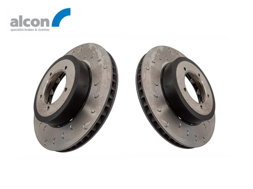 Alcon Defender 16 Inch 4 Pot Replacement Front Brake Disc Set - DA2706/7
