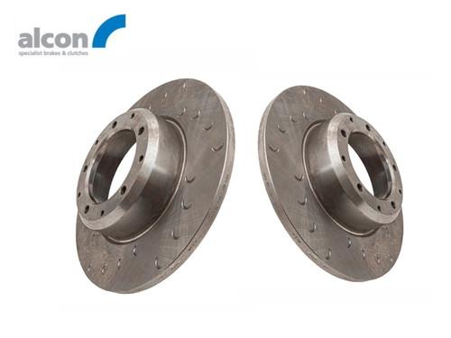 Alcon Defender 16 Inch 4 Pot Replacement Rear Brake Disc Set - DA2712/13