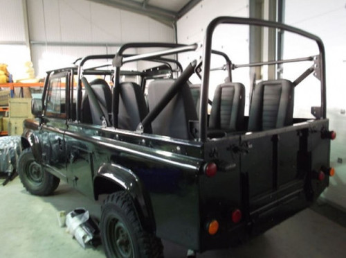 Safety Devices Defender 110 Soft Top External 8 Point Roll Cage - RBL2507SSS