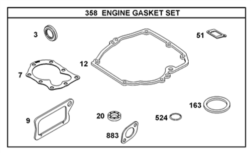 OEM Engine Gasket Set 298989 / 590777