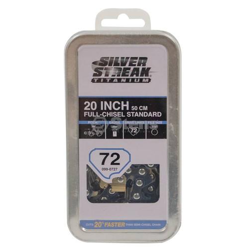 "Silver Streak Titanium Chain Pre-Cut Loop 72DL 3/8"", .050, Chisel Standard"