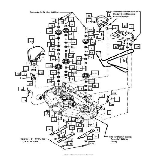 Illustrated Parts List Massey Frguson, Simplicity, Snapper  MRZT2746 Mower Deck Diagram