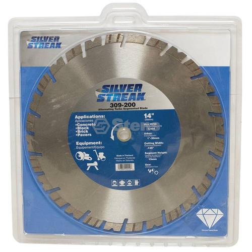 "Silver Streak 14"" Alternating Turbo Segmented Blade"