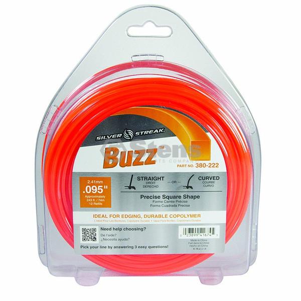 "Silver Streak Buzz Trimmer Line .095"" (2.41mm) 1 lb. Donut (Orange)"