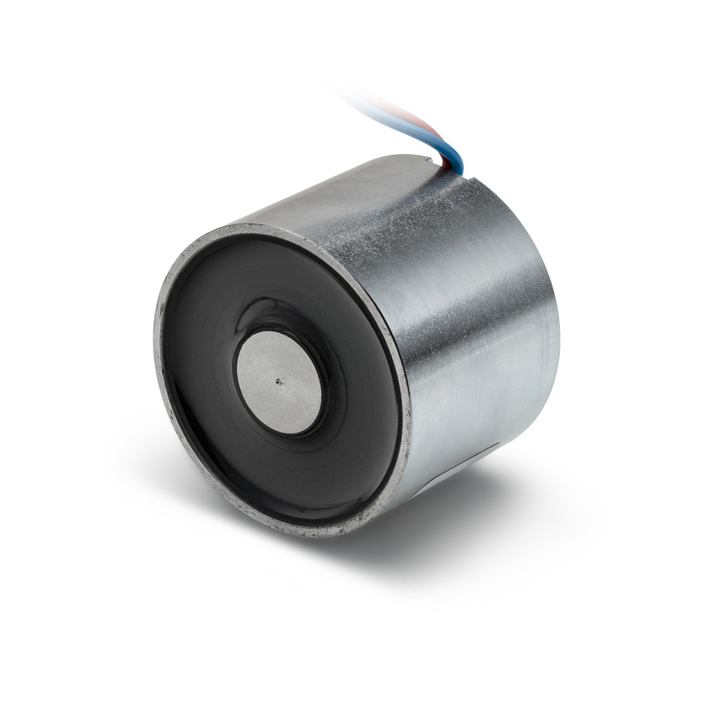 Electromagnet (NC - energize to release), 24V DC, 270 lbs. holding force - 01090003