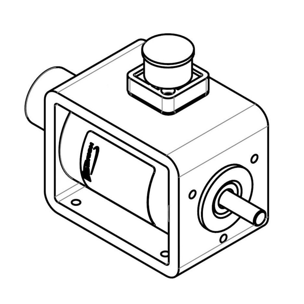 D Frame Solenoid  205V DC 25mm stroke