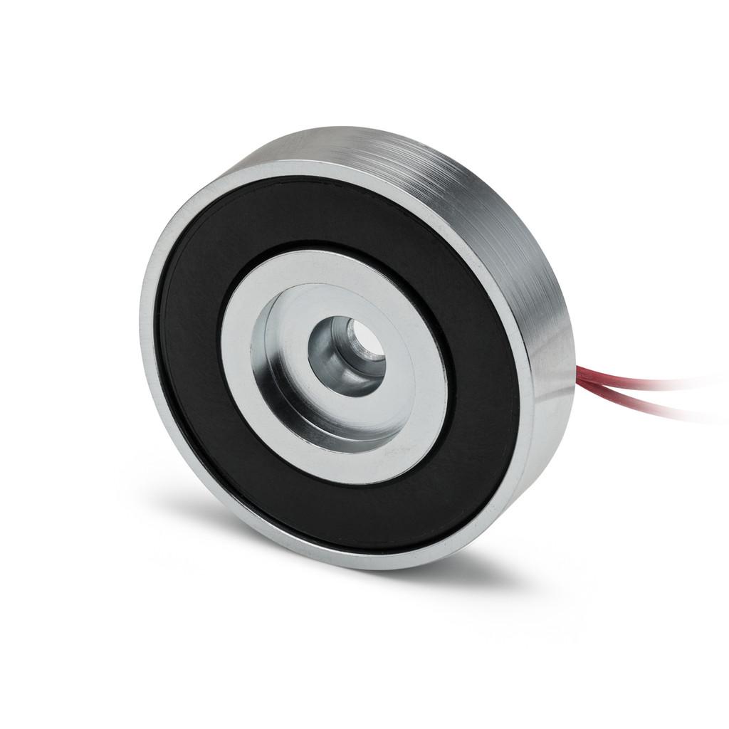 low profile DC holding magnet high force, short electromagnet high force, round electro holding magnet low profile, thin electro holding magnet,  narrow DC holding magnet,