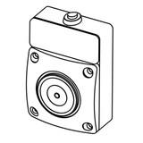 Door holding magnet wall mount, Kendrion, Hahn CQ - GTR050.400004