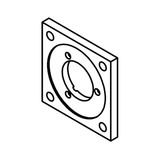 Mounting Flange for Kendrion Solenoid LHS050 - 3230145
