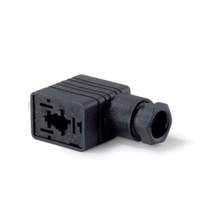 Rectangular DIN Solenoid Connector, rated for 250V - 16A, DIN EN 175301-803, 932 977-100, 3141046