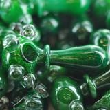 "4"" Hulk Hands Green Glass Hand Pipe"