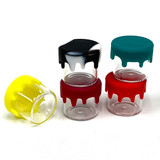5ml Glass Jar w/ Drip Silicone Lid