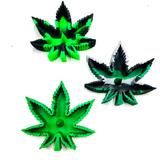 Silicone Marijuana Leaf Ashtray Debowler Assorted Color 1 Count