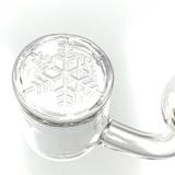 Flat Top Quartz Banger w/ Etched Snowflake 18mm Male