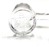 Flat Top Quartz Banger w/ Etched Snowflake 18mm Female