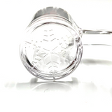 Flat Top Quartz Banger w/ Etched Snowflake 18mm Female