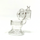 """Clear Glass Toilet Cotton Swab Q-Tip Alcohol Station Holder 4"""""""