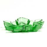 Green Glass Weed Leaf Colorado Ashtray Smokin!