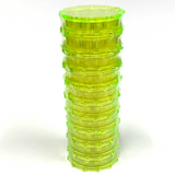 Large Acrylic Herb Grinder HOT YELLOW BABY (10 PACK)